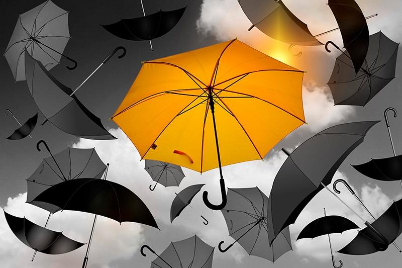 Lluvia de paraguas