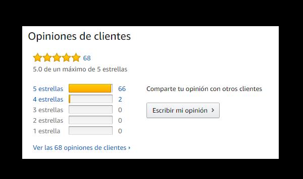 Evaluación de un producto en Amazon